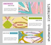 abstract art painting banners... | Shutterstock .eps vector #1144780871