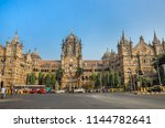 chhatrapati shivaji terminus... | Shutterstock . vector #1144782641