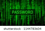 secure password. cyber attack.... | Shutterstock .eps vector #1144783604