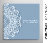invitation or card template... | Shutterstock .eps vector #1144788014