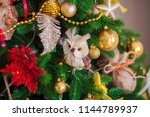 decorated christmas tree  at... | Shutterstock . vector #1144789937