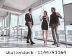 businessmen and businesswoman... | Shutterstock . vector #1144791164