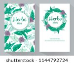 tea branding and packaging with ... | Shutterstock .eps vector #1144792724
