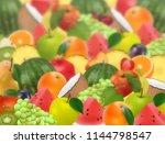 fruity fuzzy ripe juicy...   Shutterstock .eps vector #1144798547