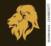 lion golg mascot head  wild... | Shutterstock .eps vector #1144801577