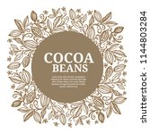 cacao beans plant  vector... | Shutterstock .eps vector #1144803284