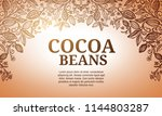 cacao beans plant  vector... | Shutterstock .eps vector #1144803287