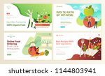set of web page design... | Shutterstock .eps vector #1144803941