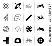 set of 16 race filled and...   Shutterstock .eps vector #1144804517