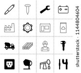 set of 16 industrial filled and ...   Shutterstock .eps vector #1144804604