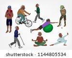 senior sports vector golf...   Shutterstock .eps vector #1144805534