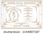 set of decorative vintage... | Shutterstock .eps vector #1144807187