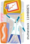 a doctor checking on a patient... | Shutterstock . vector #114480871