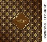 thai art luxury temple ... | Shutterstock .eps vector #1144809734