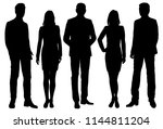 vector silhouettes men and... | Shutterstock .eps vector #1144811204