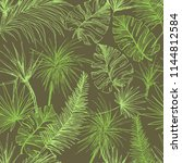 palmtrees seamless pattern.... | Shutterstock .eps vector #1144812584