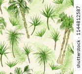 palmtrees seamless pattern.... | Shutterstock .eps vector #1144812587