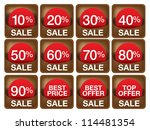 set of sale labels and banners. ... | Shutterstock .eps vector #114481354