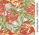 summer exotic floral tropical... | Shutterstock .eps vector #1144815404