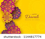 diwali festival holiday design... | Shutterstock .eps vector #1144817774