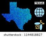 hexagon blue texas map.... | Shutterstock .eps vector #1144818827