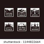 vector vintage travel patch set. | Shutterstock .eps vector #1144822664