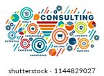 banner consulting concept. text ... | Shutterstock .eps vector #1144829027