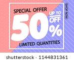 sale poster design template ...   Shutterstock .eps vector #1144831361