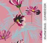 seamless floral pattern....   Shutterstock .eps vector #1144833104