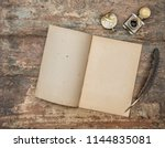open book and antique office... | Shutterstock . vector #1144835081