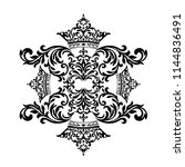 vintage baroque frame scroll...   Shutterstock .eps vector #1144836491