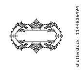 vintage baroque frame scroll...   Shutterstock .eps vector #1144836494