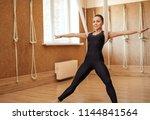 young pleasant flexible woman... | Shutterstock . vector #1144841564