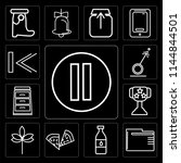 set of 13 simple editable icons ...   Shutterstock .eps vector #1144844501