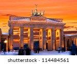 Brandenburger Tor In Winter A...