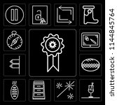 set of 13 simple editable icons ...   Shutterstock .eps vector #1144845764