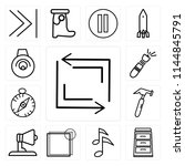 set of 13 simple editable icons ...   Shutterstock .eps vector #1144845791