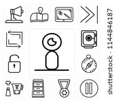 set of 13 simple editable icons ...   Shutterstock .eps vector #1144846187