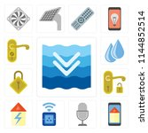 set of 13 simple editable icons ... | Shutterstock .eps vector #1144852514