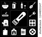 set of 13 simple editable icons ... | Shutterstock .eps vector #1144853147