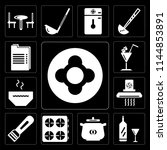 set of 13 simple editable icons ... | Shutterstock .eps vector #1144853891