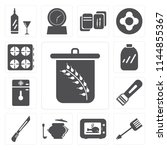 set of 13 simple editable icons ... | Shutterstock .eps vector #1144855367