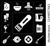 set of 13 simple editable icons ... | Shutterstock .eps vector #1144857461