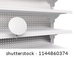 empty showcase shelves with... | Shutterstock . vector #1144860374