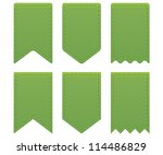 retro ribbons a tags | Shutterstock .eps vector #114486829