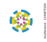 geometric abstract dart target... | Shutterstock .eps vector #1144875104