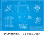 mechanical engineering drawings ... | Shutterstock .eps vector #1144876484