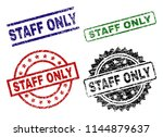 staff only seal stamps with... | Shutterstock .eps vector #1144879637