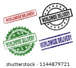 worldwide delivery seal prints... | Shutterstock .eps vector #1144879721