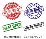 wi fi spot seal prints with... | Shutterstock .eps vector #1144879727